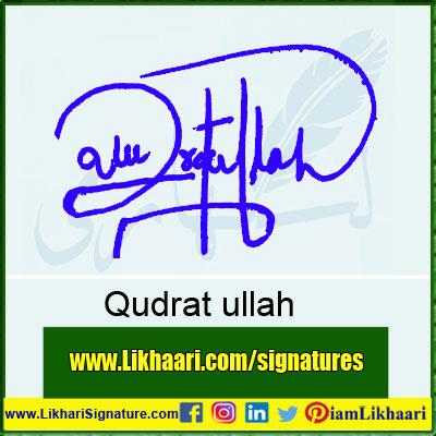 Qudrat-ullah-Signature-Styles