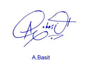 A Basit Signature Style