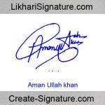 Aman Ullah khan Signature Style