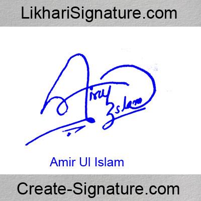 Amir Ul Islam Signature Style