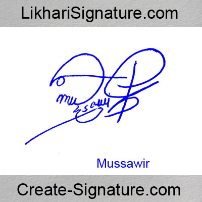 Mussawir Signature Style