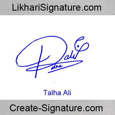 Talha Ali Signature Style