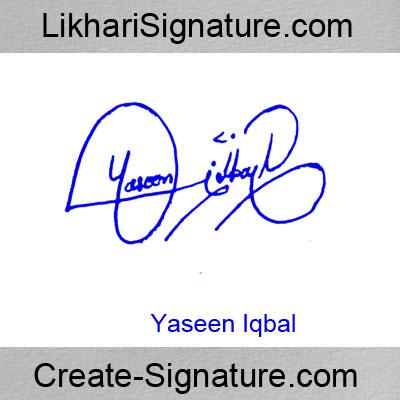 Yaseen Iqbal Signature Style