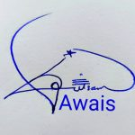 Awais Name Handwritten Signature