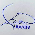 Awais Name Handwritten Signature