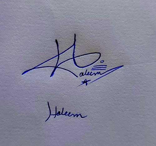 Haleem Name Handwritten Signature