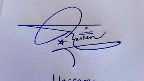 Hassan Name Handwritten Signature