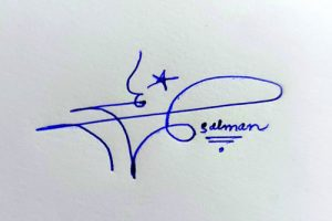 Salman Name Handwritten Signature