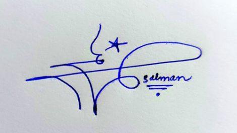 Salman Name Handwritten Signature